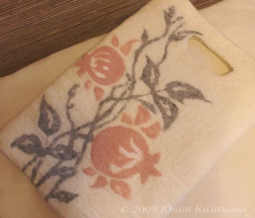 "Войлочная сумка  ""Зимний сон "".  Юлия Казакова.  Пишет."